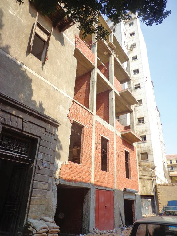 العمارة مؤخرًا بعد بناء الجزء المنهار - تصوير: صديق البخشونجي