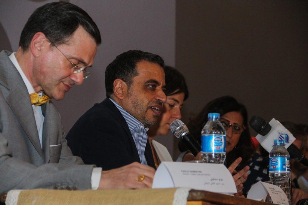 جانب من المؤتمر الصحفي الذي عقد في سينما الزمالك للإعلان عن تفاصيل البانوراما العاشرة - تصوير: صديق البخشونجي