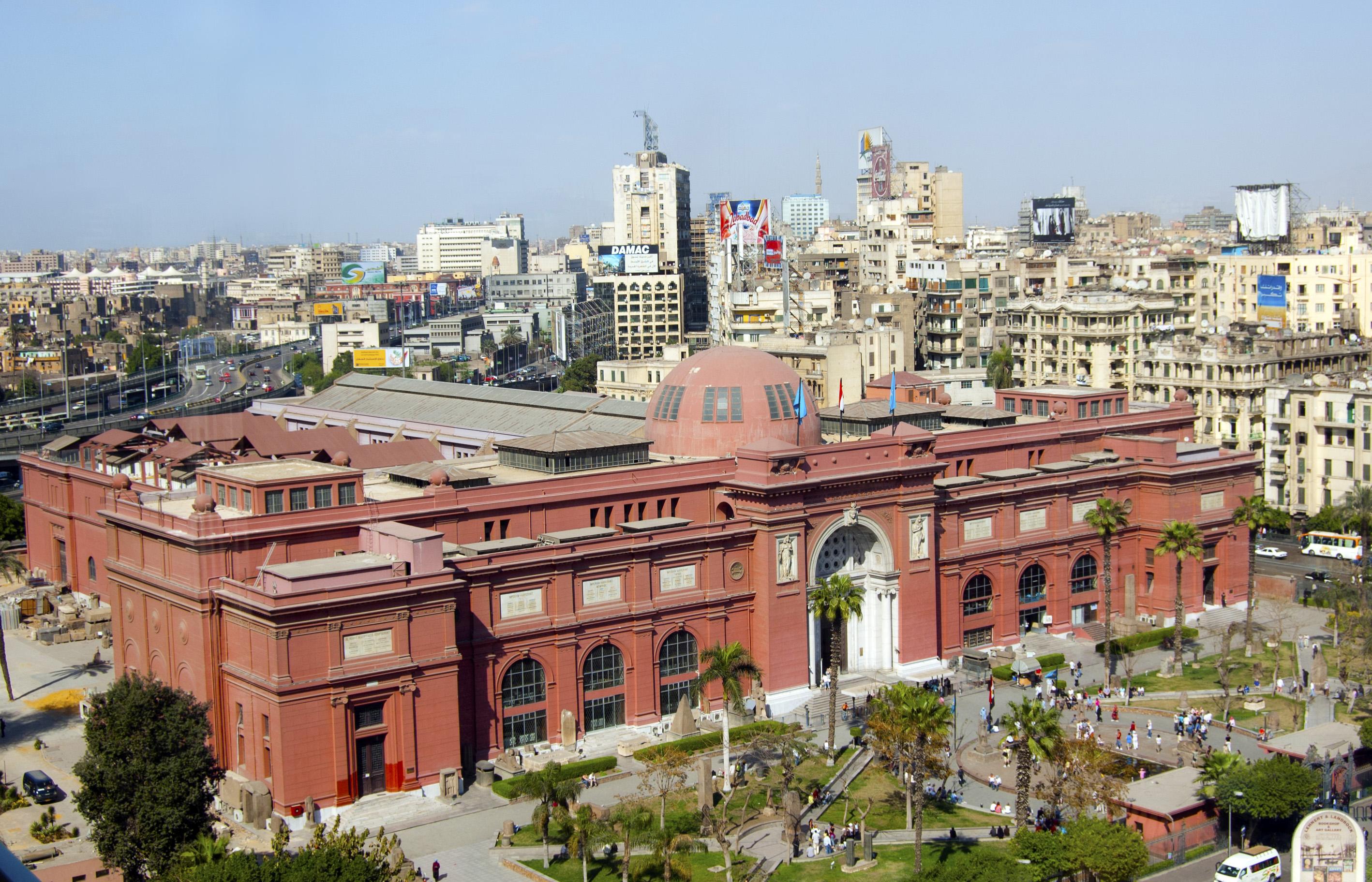 منظر عام لمبنى المتحف بميدان التحرير / ويكيبيديا