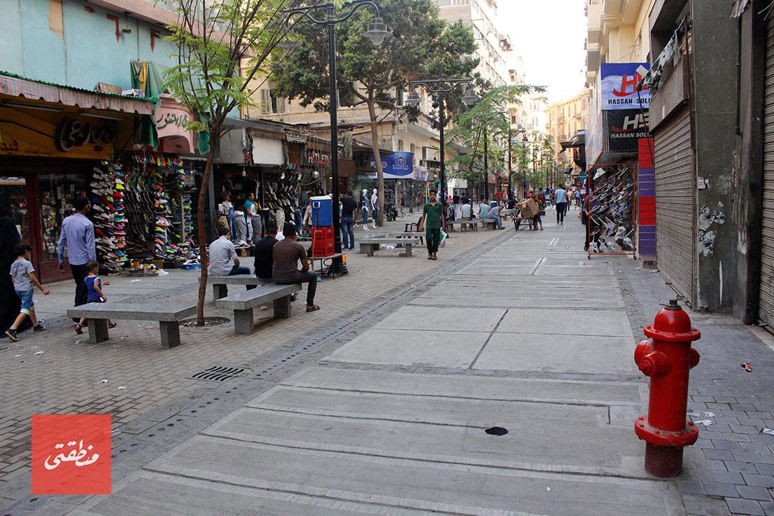 ممر الشواربي بعد تجديده وافتتاحه - تصوير: صديق البخشونجي