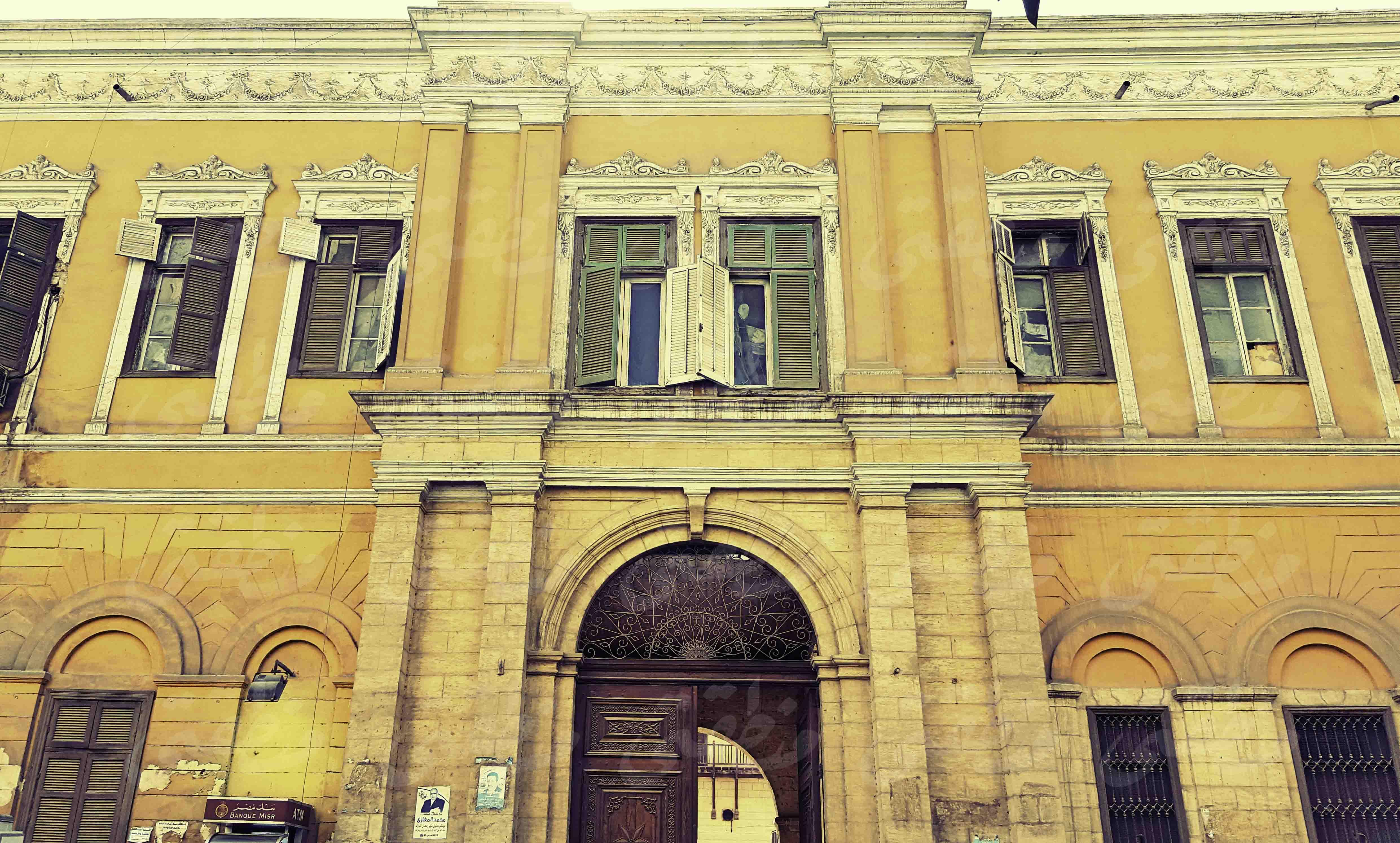 جانب من واجهة قصر إسماعيل باشا المفتش
