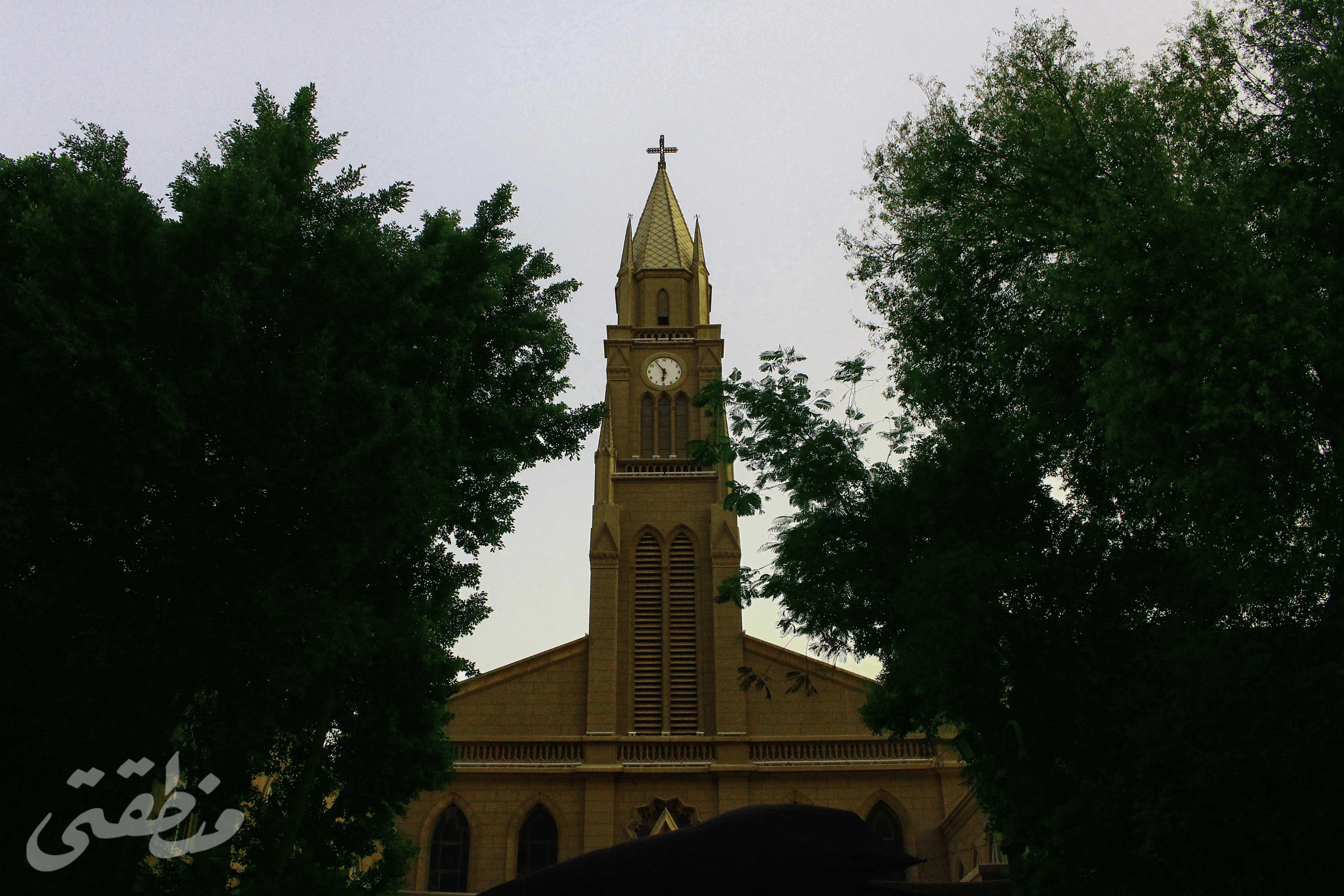 كنيسة قصر الدوبارة من الخارج- تصوير - صديق البخشونجي