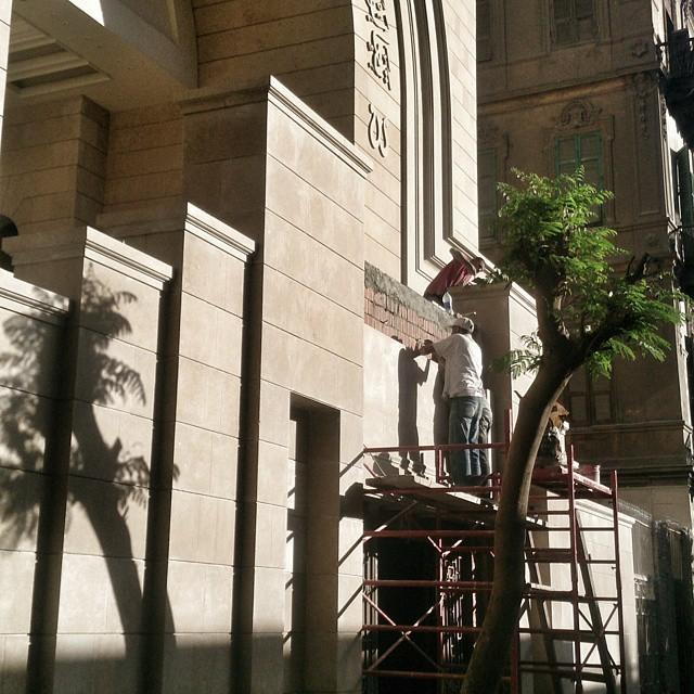 كنيسة العذراء مريم ومار يوحنا باب اللوق اثناء ترميمها - اكتوبر 2014 -تصوير - كريم منير