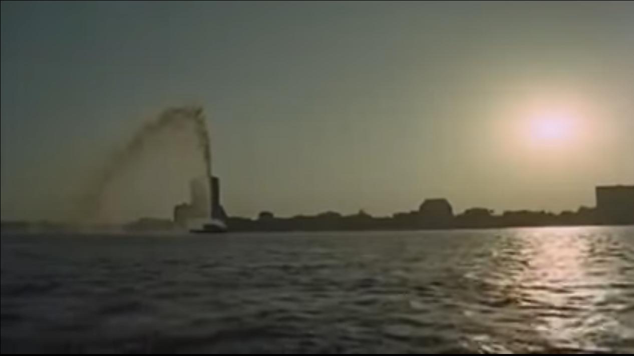 لقطة من المشهد الافتتاحي لفيلم عروس النيل 1963