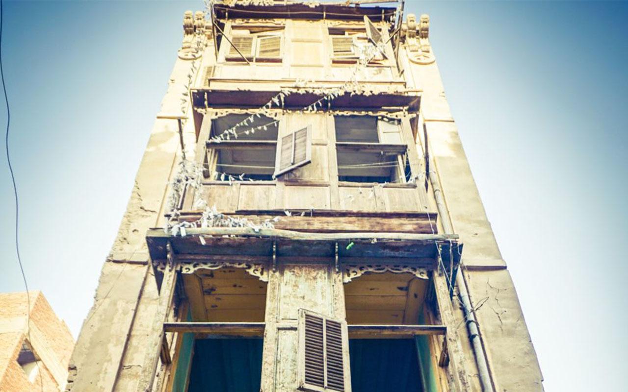 أحد المباني التراثية المهملة في درب حيدر بحي عابدين - تصوير ميشيل حنا