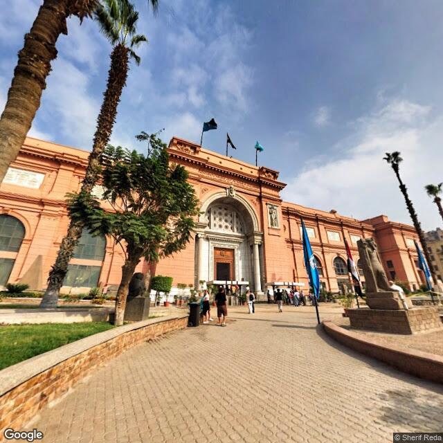 صورة من google street view لساحة المتحف المصري - المصدر Sherif Reda