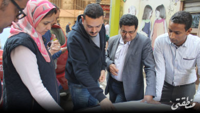 جولة داخل مثلث البورصة لمتابعة أعمال التطوير - تصوير أحمد حامد