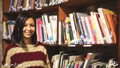 سارة بهجت - مديرة مكتبة تاون هاوس - تصوير: عبد الرحمن محمد