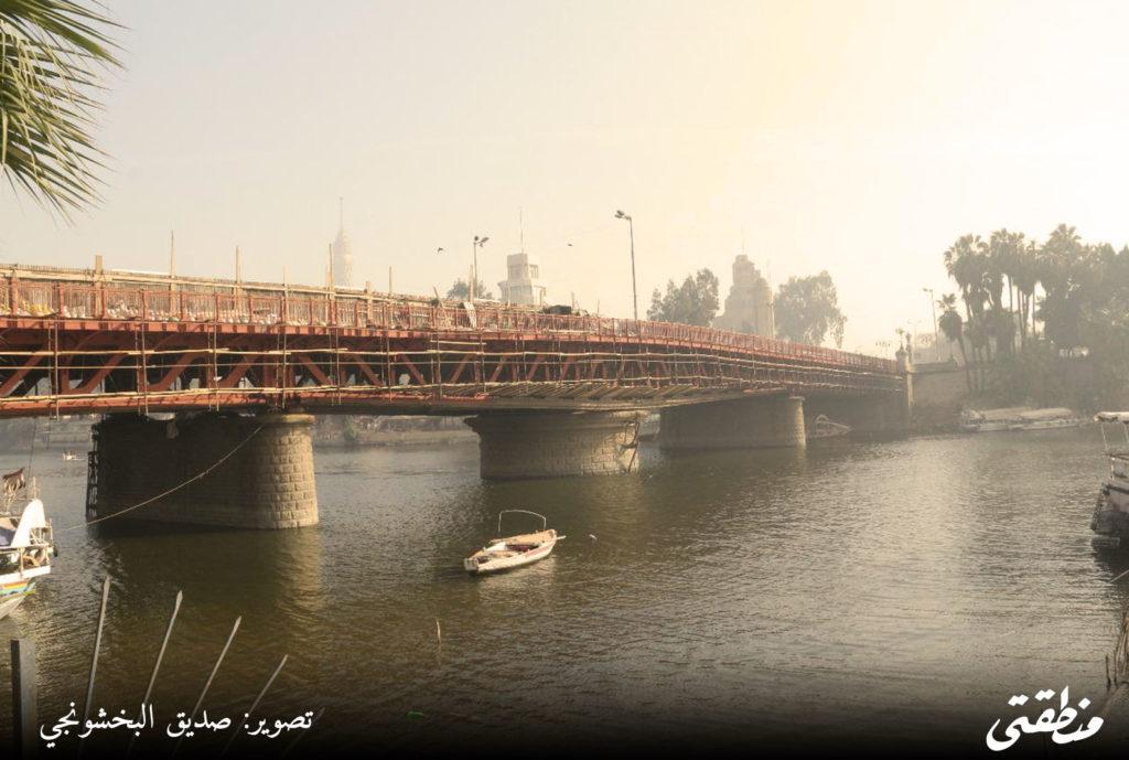 محافظ القاهرة يتفقد كوبري الجلاء - تصوير صديق البخشونجي