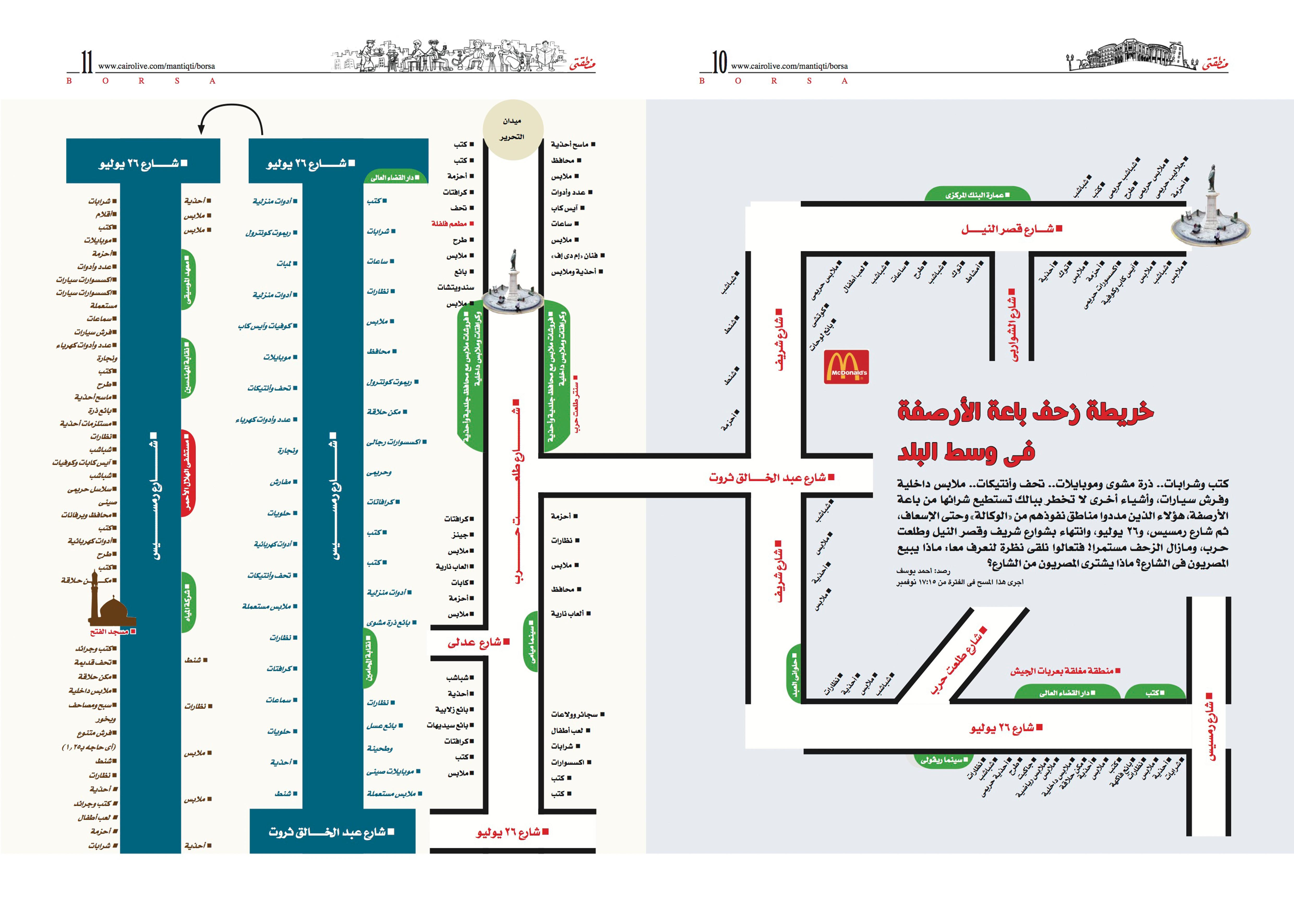 إحدى الخرائط التوضيحية للمكاتب الحكومية بوسط البلد