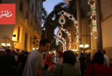 افتتاح شارع الشريفين بمنطقة البورصة بعد تطويره - تصوير عبد الرحمن محمد