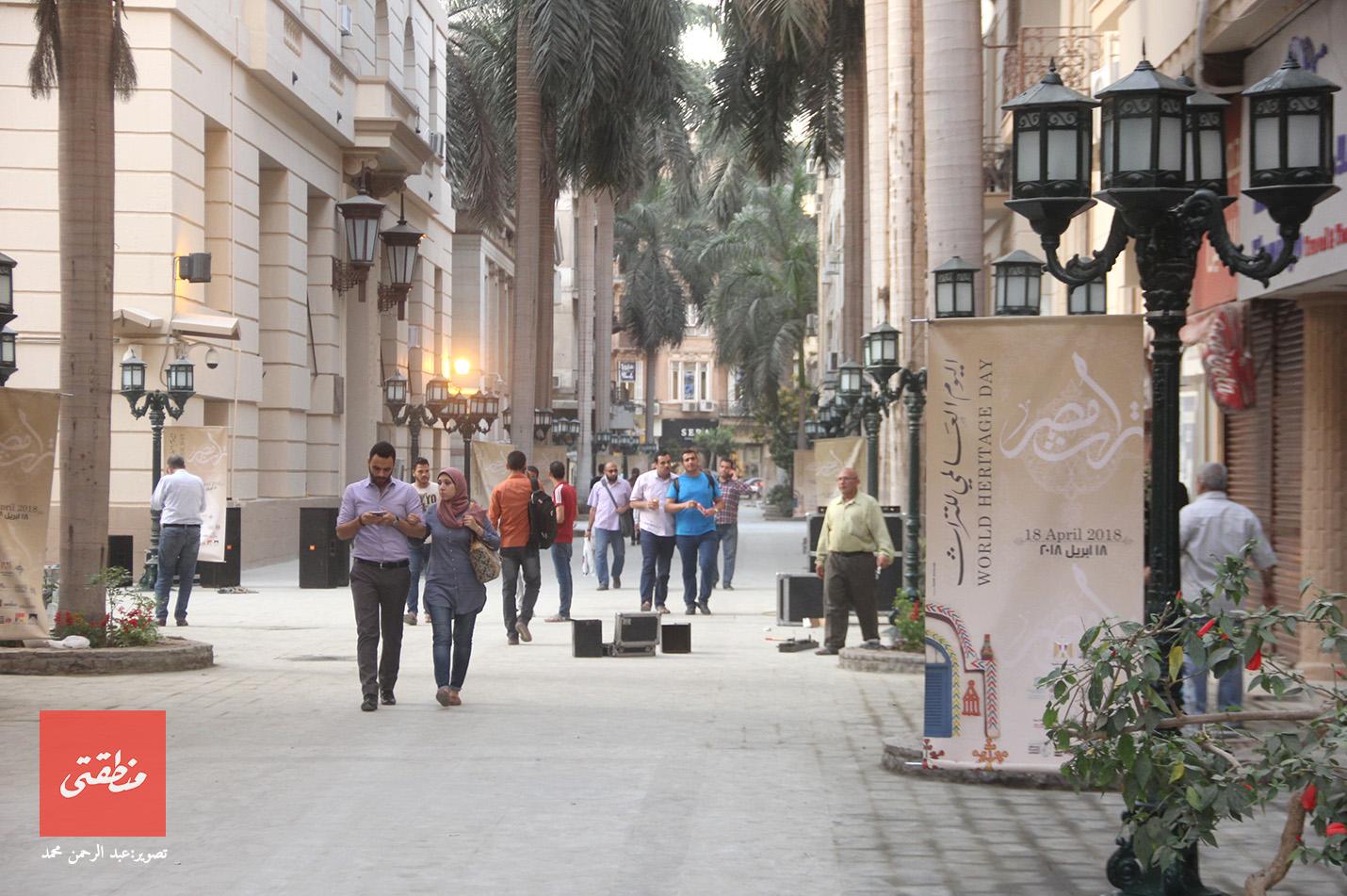 شارع الشريفين قبيل افتتاحه - تصوير عبد الرحمن محمد