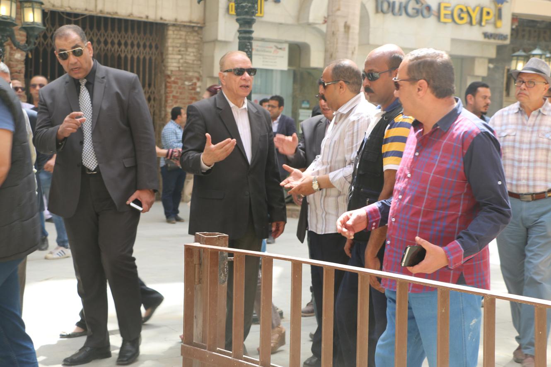 محافظ القاهرة في جولة تفقدية لشارع الشريفين