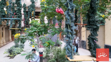 تزيين ممر كوداك احتفالا بأعياد الربيع - تصوير: آحمد حامد