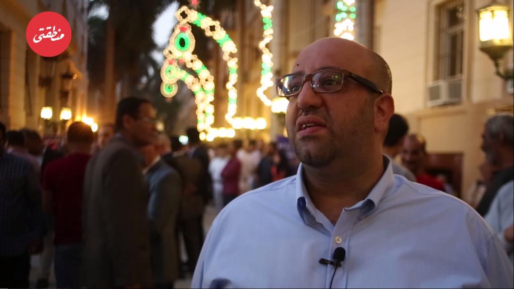 المهندس رؤوف حنا صاحب شركة فانيولو للإضاءة - تصوير - عبد الرحمن محمد