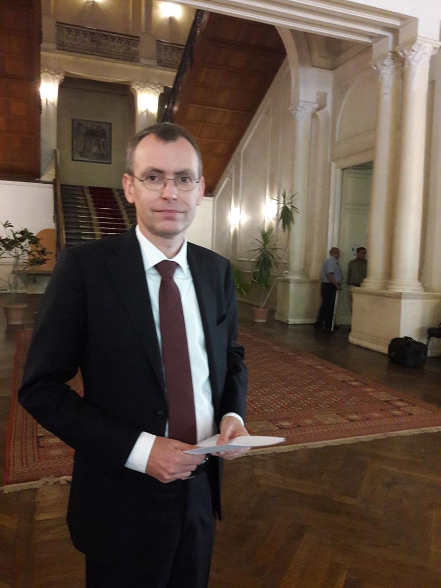 لوران بافيه مدير المعهد العلمي الفرنسي للآثار الشرقية