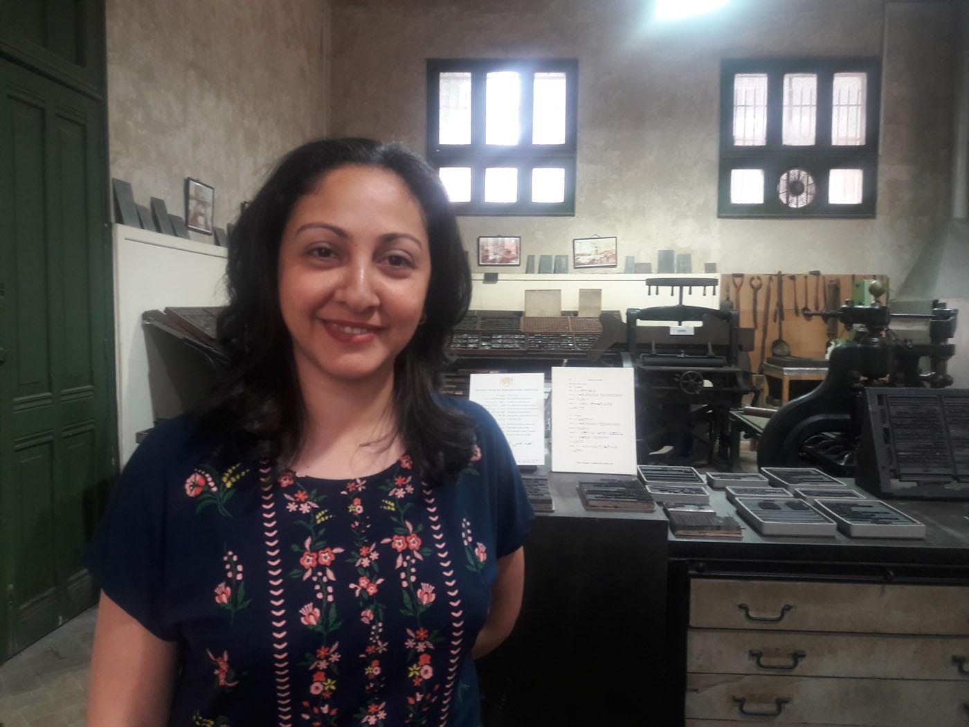 ليليان أمين مُساعد قسم النشر بالمعهد العلمي الفرنسي