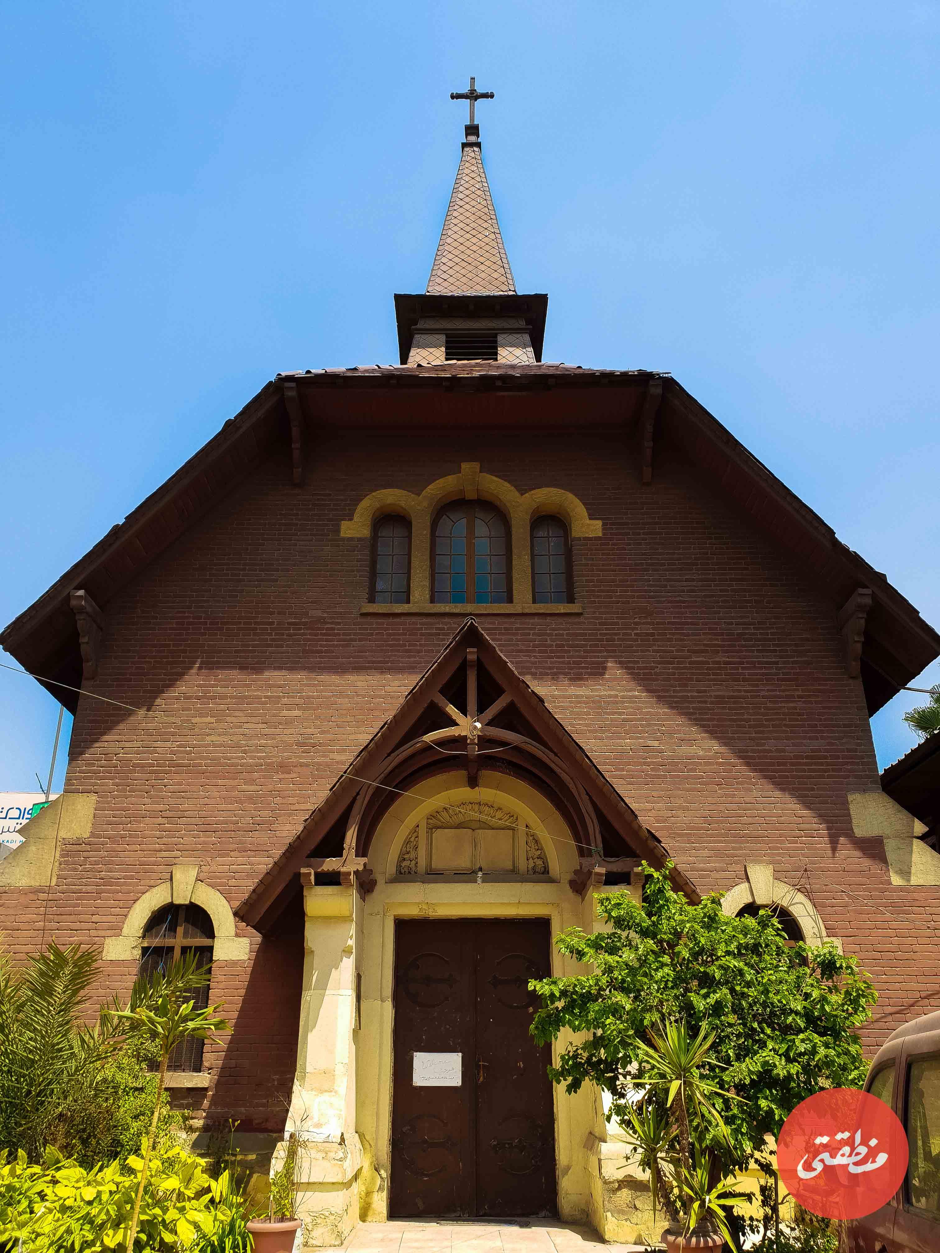 الكنيسة الإنجيلية بالإسعاف – تصوير ميشيل حنا