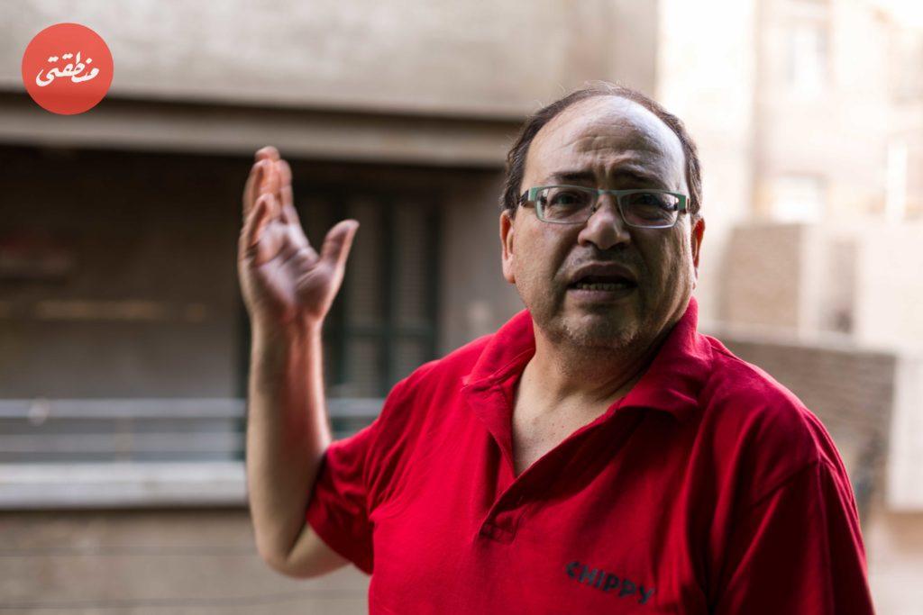 عماد الأسمر اثناء حديثه لمنطقتي - تصوير عبد الرحمن محمد