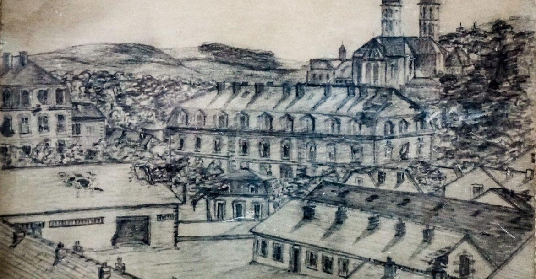 رسم بخط يد الأمير أحمد فؤاد (الملك أحمد فؤاد فيما بعد)، رسمه أثناء دراسته في المدرسة الحربية بتورينو في إيطاليا.