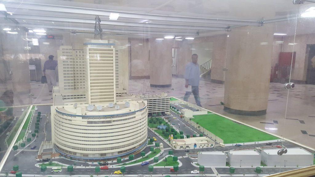 ماكيت لمبنى ماسبيرو
