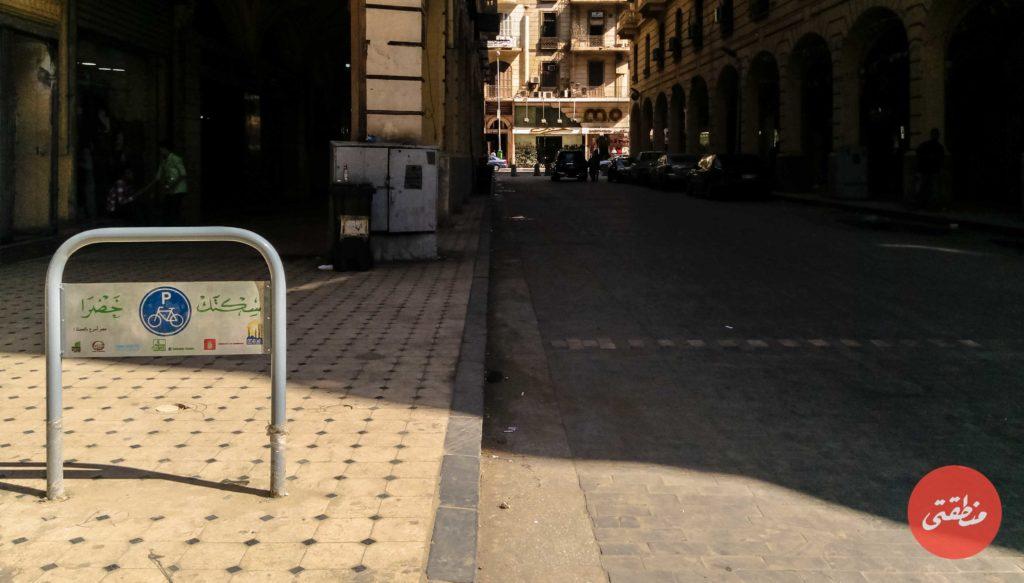 تنفيذ مشروع سكتك خضرا في أحياء وسط البلد - تصوير: عبد الرحمن محمد