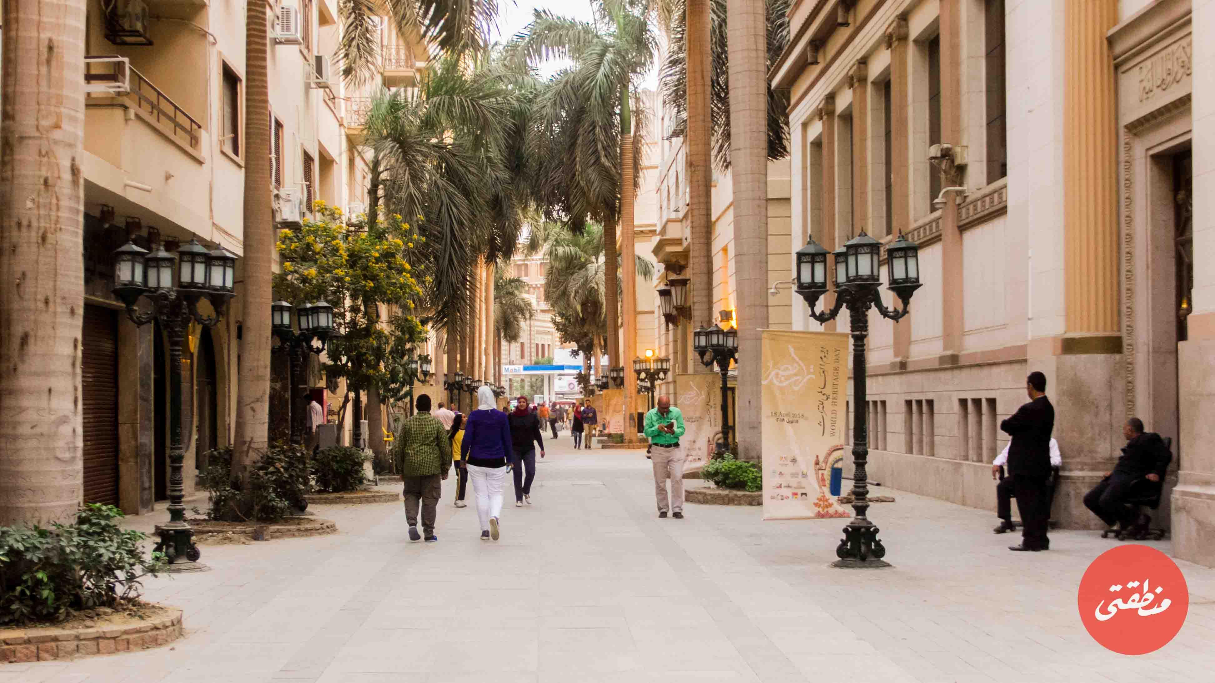 شارع الشريفين بعد تطويره وافتتاحه شارعًا للفنون والثقافة في منطقة البورصة بوسط القاهرة منتصف أبريل الماضي - تصوير: عبد الرحمن محمد