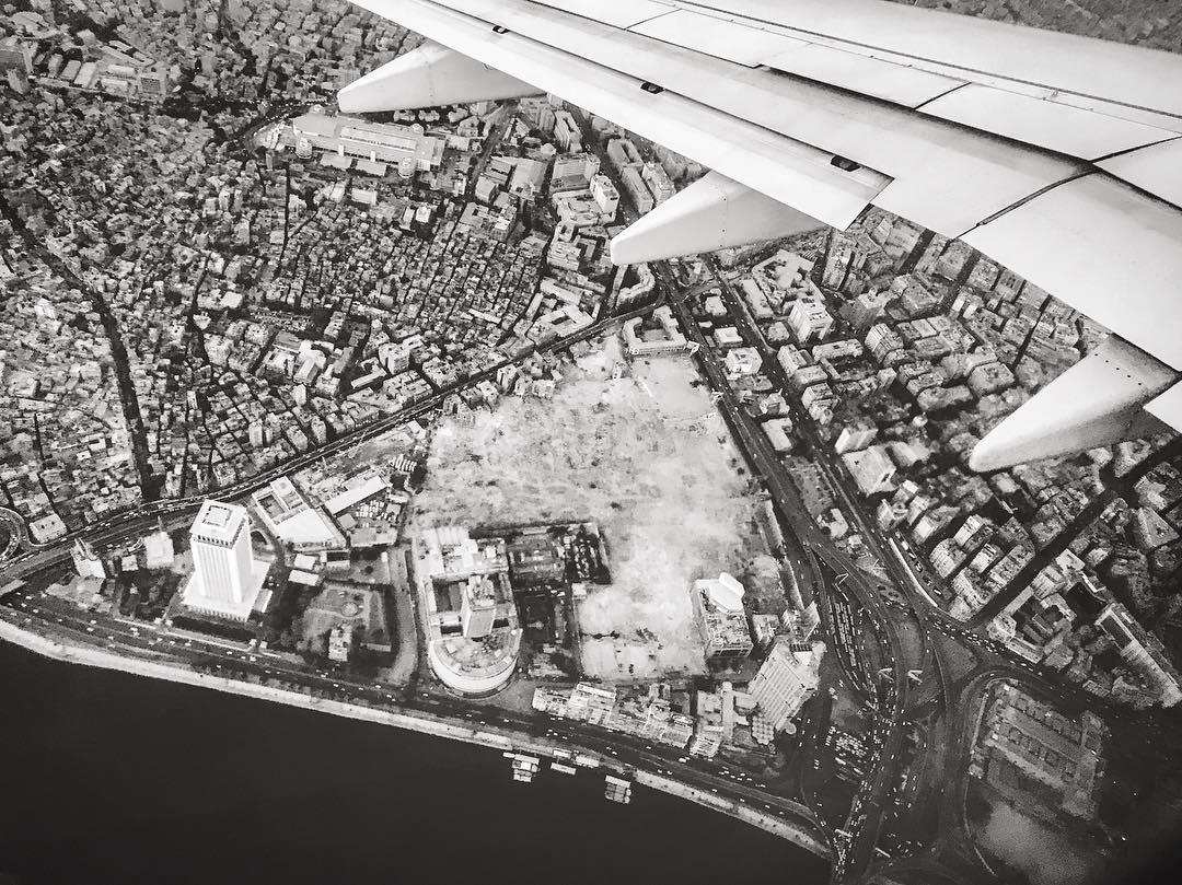 صورة من السماء لمثلث ماسبيرو بعد اخلائه من سكانه والهدم بداية يونيو الماضي - تصوير - زياد حسن