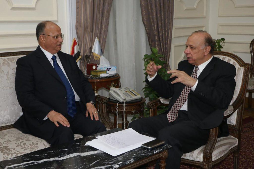 اللواء عاطف عبد الحميد يستقبل محافظ القاهرة الجديد