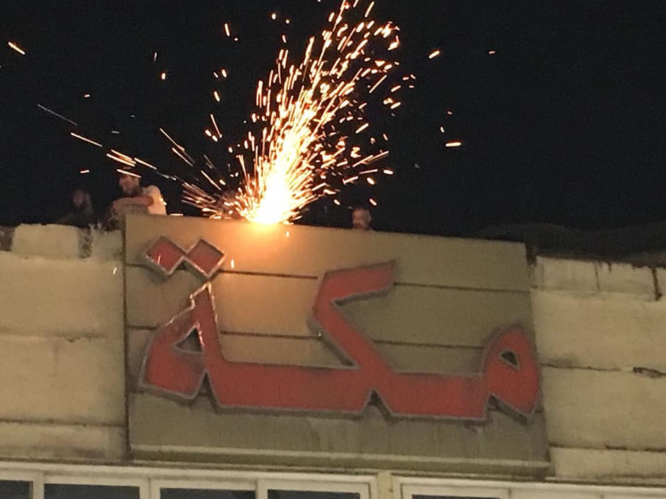 إزالة إعلان مخالف بشارع عبد الخالق ثروت