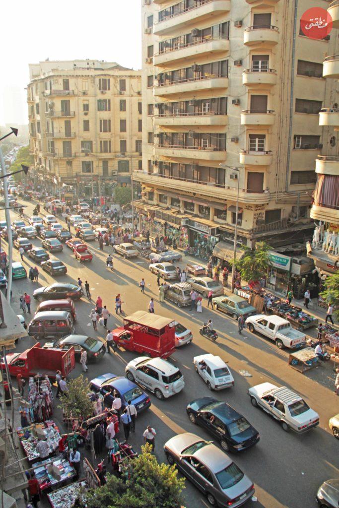 شارع 26 يوليو اثناء تواجد الباعة الجائلين - سبتمبر 2013 - تصوير- أحمد منتصر