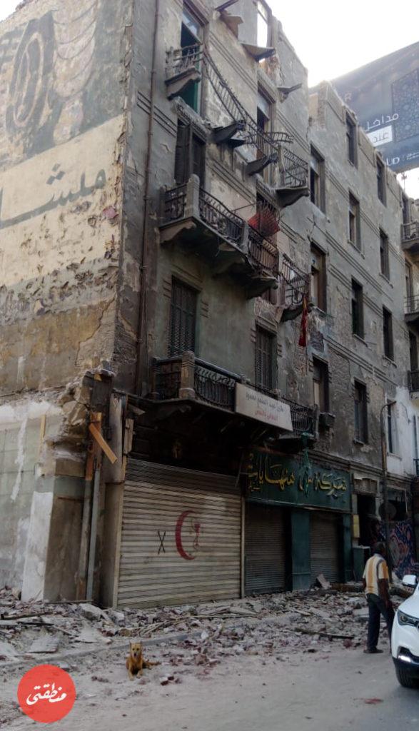 محل ساعات هنهايت بمثلث ماسبيرو قبل الهدم - تصوير - عبد الرحمن محمد