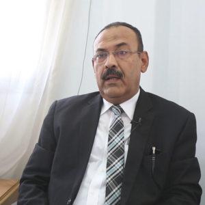 المحامى محمد راضي، رئيس اتحاد مُلاك الجناح الأيسر لعمارة الإيموبيليا - تصوير - عبد الرحمن محمد