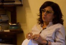 ماريان خوري أثناء حديثها عن ترميم أفلام يوسف شاهين - تصوير: أحمد جمال
