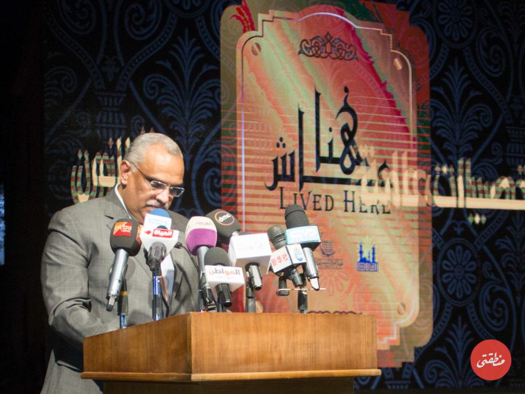 المهندس محمد أبو سعدة أثناء كلمته - تصوير عبد الرحمن محمد