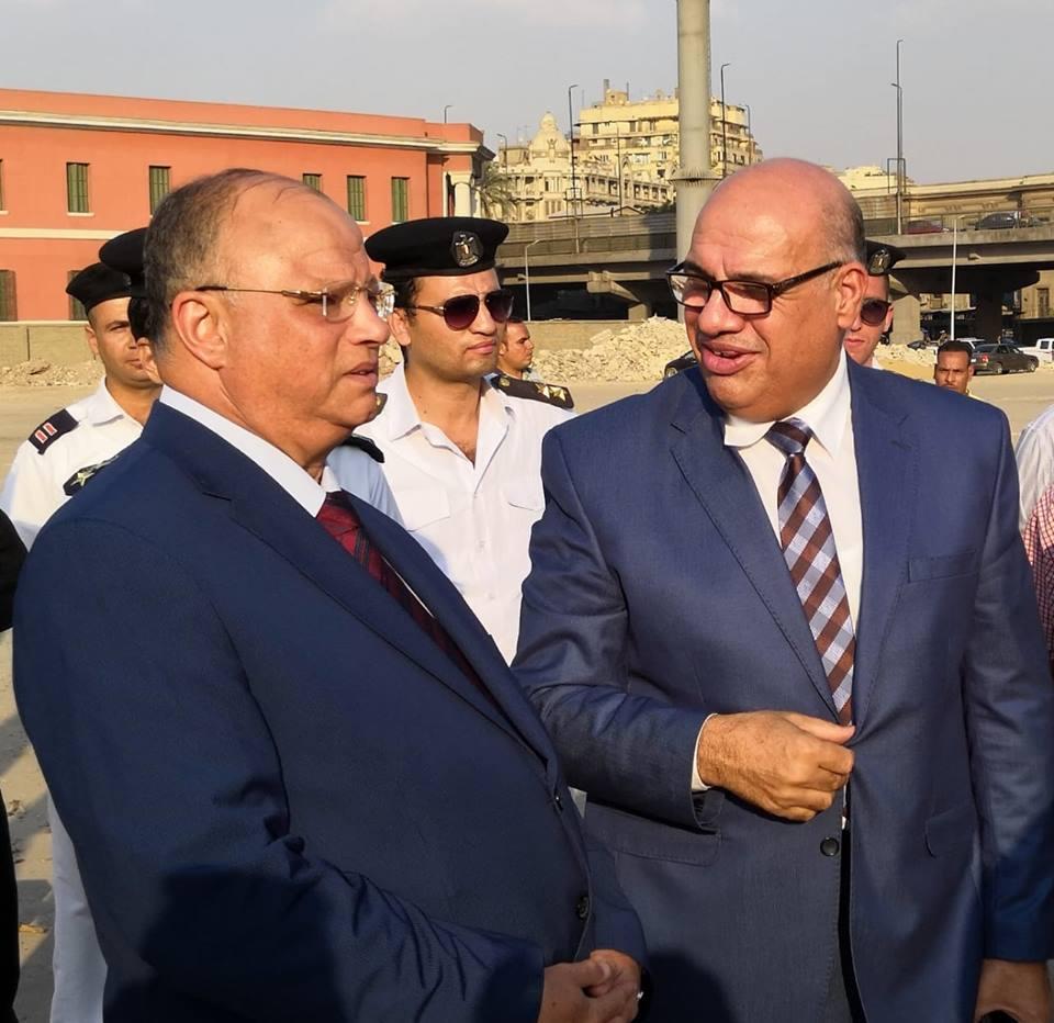 اللواء إبراهيم عبد الهادى نائب المحافظ واللواء خالد عبد العال محافظ القاهرة