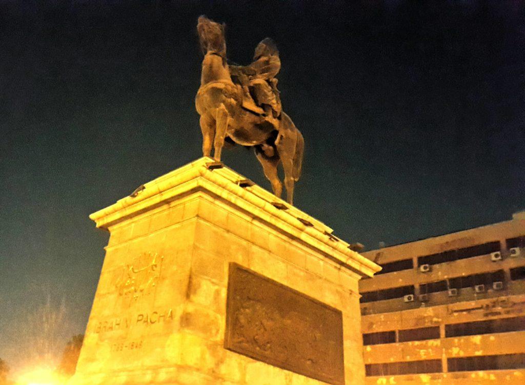 تمثال إبراهيم باشا بميدان الأوبرا