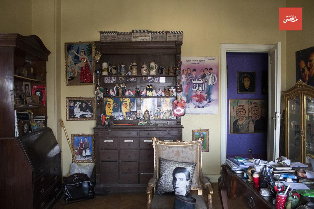 غرفة المكتب بشقة الحجر - تصوير - أحمد جمال