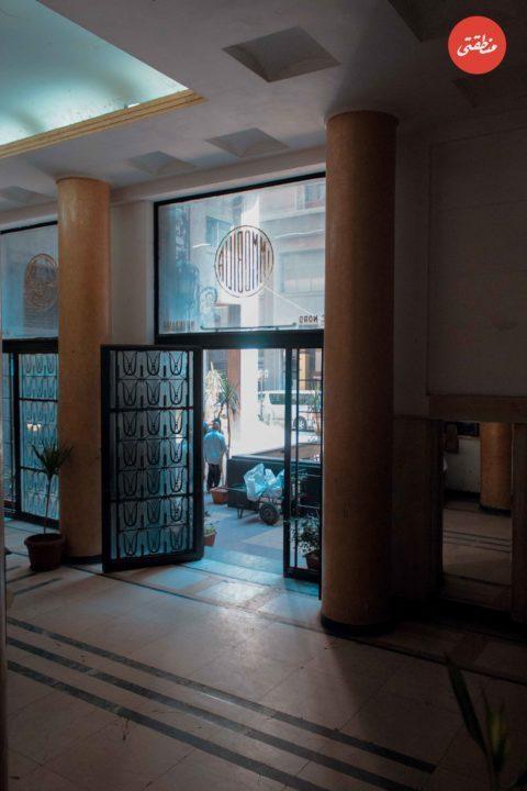 مدخل المبنى القبلي لعمارة الإيموبيليا من الداخل - تصوير - أحمد جمال