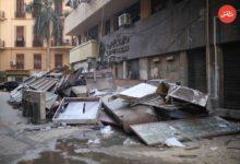 شارع ابن ثعلب مستقر اللافتات التي أزالها الحي على مدار الشهرين الماضيين - تصوير - عبد الرحمن محمد