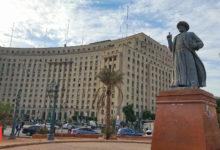 تمثال الزعيم عمر مكرم بميدان التحرير - تصوير - ميشيل حنا