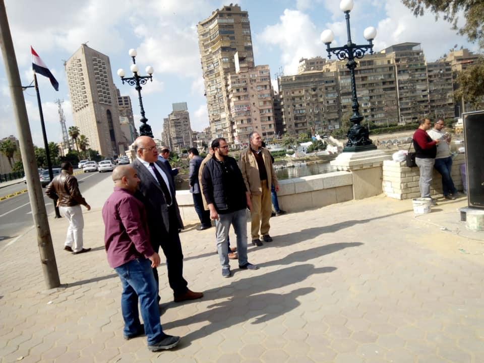 نائب محافظ القاهرة يتفقد تطوير كوبري الجلاء