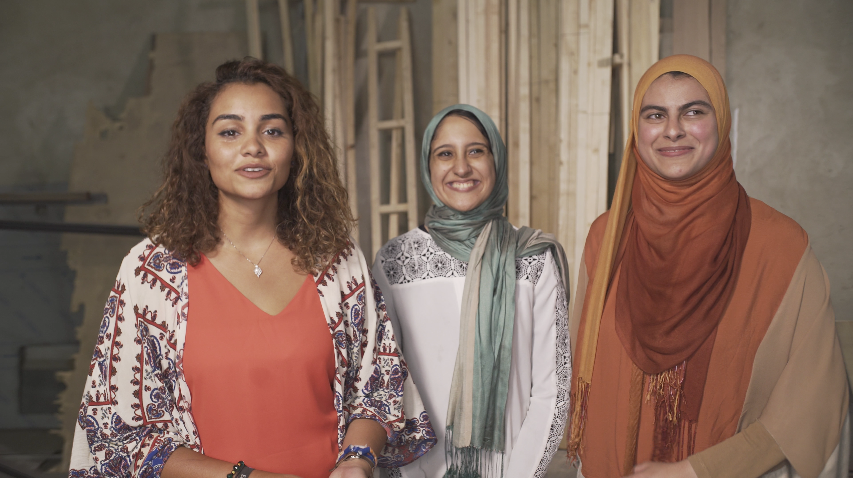 FMD Cofounders_Farah El-Rafei, Israa Mahmoud Ibrahim and Nada Ahmed Salem (from right to left) .