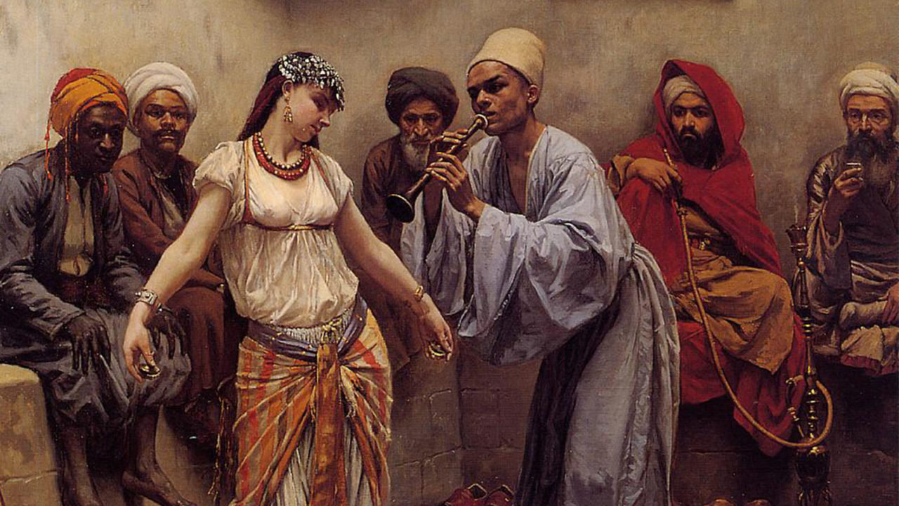 Dancing in a Cafe in Cairo, Jacques Baugnies (1874-1925